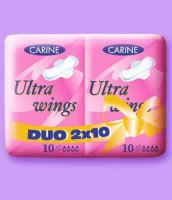 VLOŽKY CARINE *DUO ULTRA WINGS 2X10