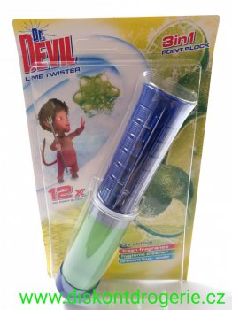 Dr. DEVIL WC point block 3in1 Lime twister 12 dávek 75 ml