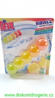 Dr. Devil Lemon Fresh BiColor 5Ball Wc závěs 35 g