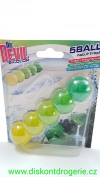 Dr. Devil Natur Fresh BiColor 5Ball Wc závěs 35 g