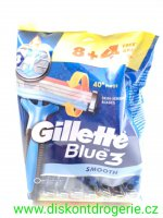 GILLETTE BLUE 3 smooth 12 KS